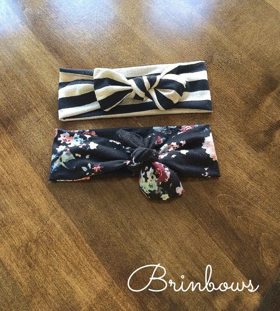 Baby girl headwraps by Brinbows on Etsy