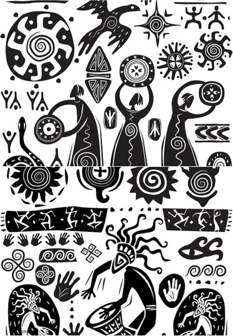 Black and white art vector