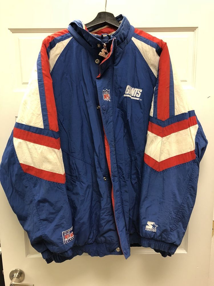 Vintage 90s Starter NFL New York Giants Puffer Winter Warm Jacket Free  Shipping  e30212085