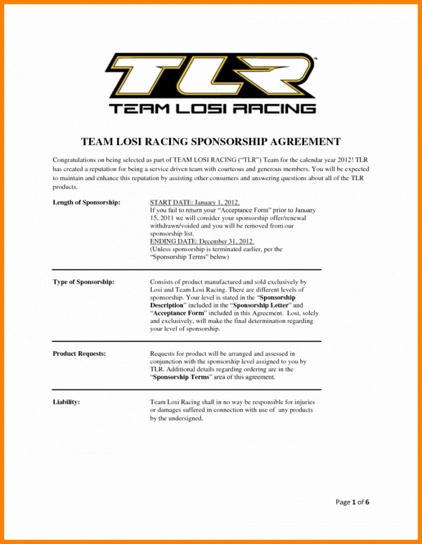 Race Car Sponsorship Agreement Template Proposal Templates Sponsorship Proposal Sponsorship Letter