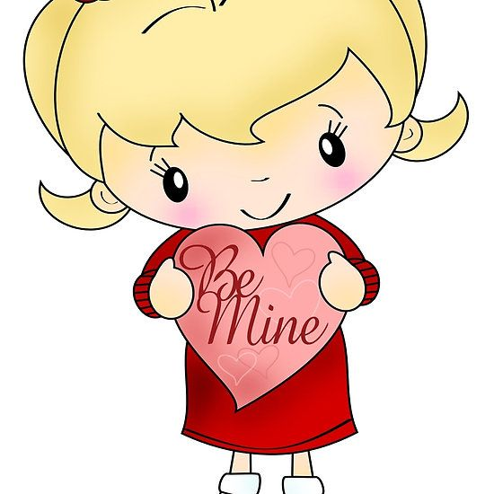 'Be Mine (girl)' Zipper Pouch by BrushAddict *TamiDalton