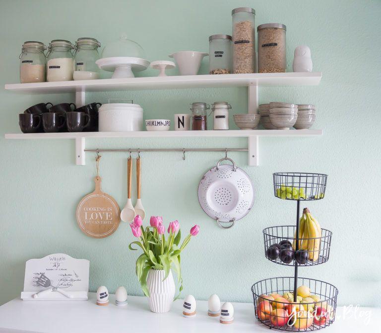 Mint Wandfarbe: Ein Neues Küchenregal Und Das Drama Um Die Wandfarbe Mint