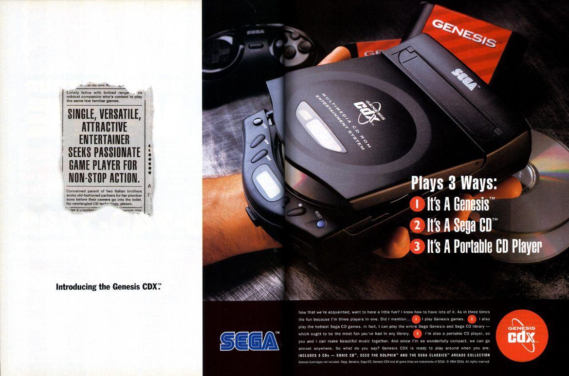 Sega Genesis CDX ad - No Brasil (Mega Drive CD)    | Game