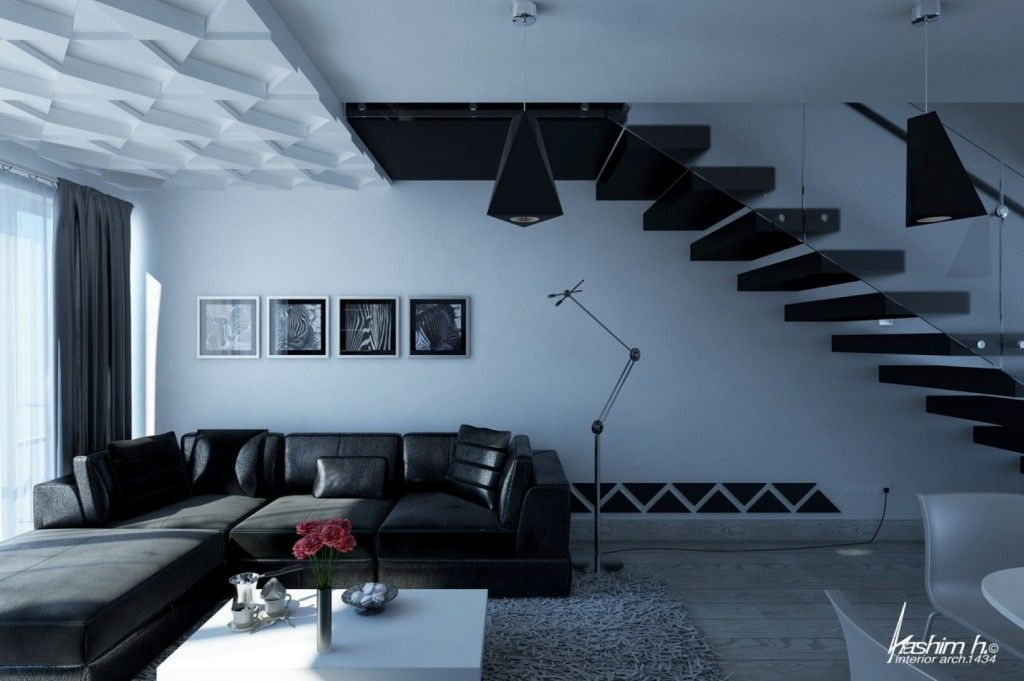 Best Modern Living Room Interiors: Glass Staircase Best Modern Living Room Interiors ~ interhomedesigns.com Living Room Design Inspiration
