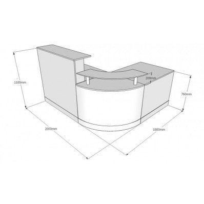 Fusion Curved Quadrant Reception Desk