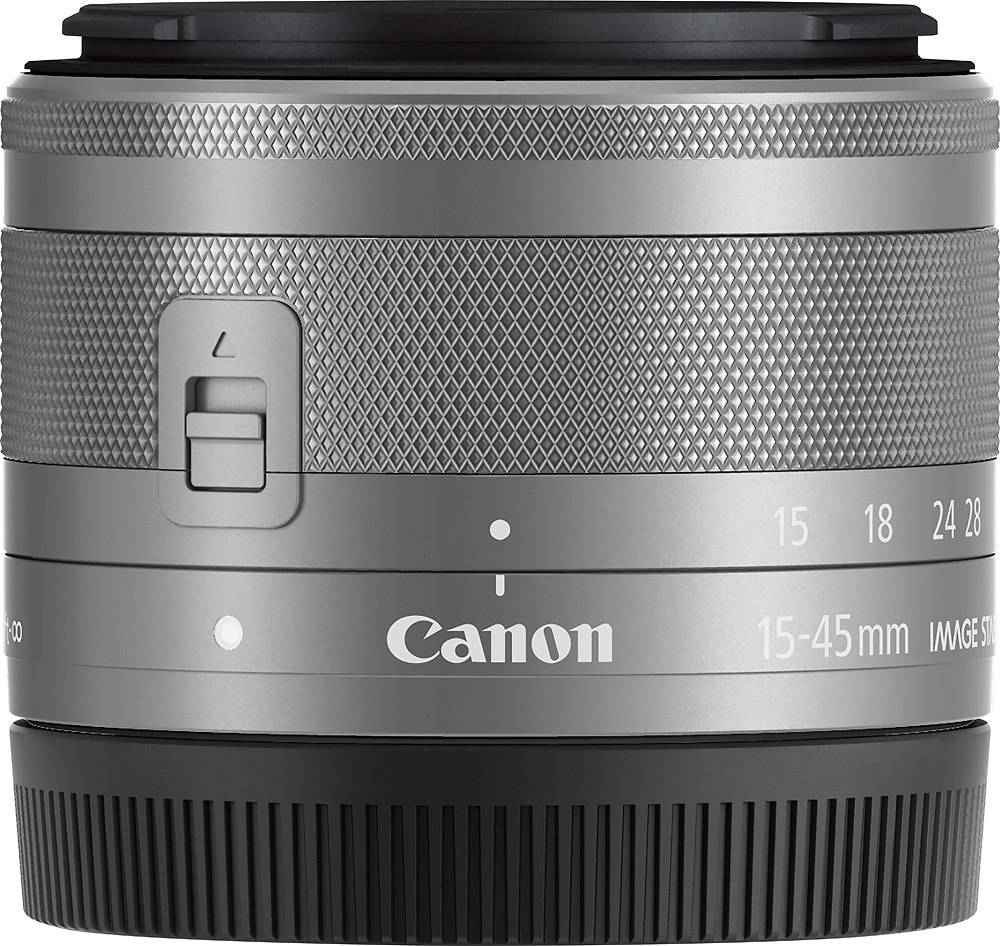 Canon Ef M 15 45mm F 3 5 6 3 Is Stm Standard Zoom Lens For Eos M Series Cameras Silver 0597c002 Best Buy In 2021 Standard Zoom Lens Zoom Lens Canon Ef