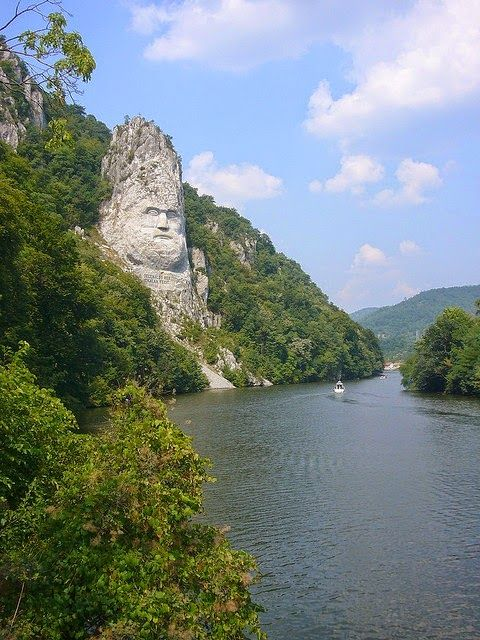 The tallest sculpture in Europe, Decebalus statue (the last king of Dacians, Romanian ancestors) 55 m (180 ft) high and 25 m (82 ft) wide, six feet less than the Statue of Liberty, eight feet more than the monument of Christ in Rio and 33 feet above the Colossus of Rhodes.