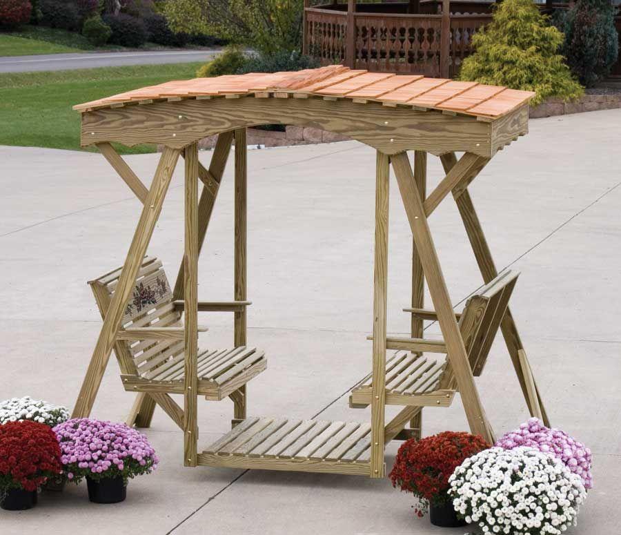 Free Wooden Glider Plans Double Lawn W Cedar Roof