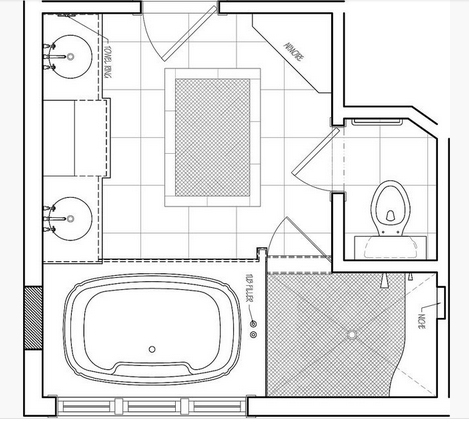 master bathroom layout, small bathroom floor plans