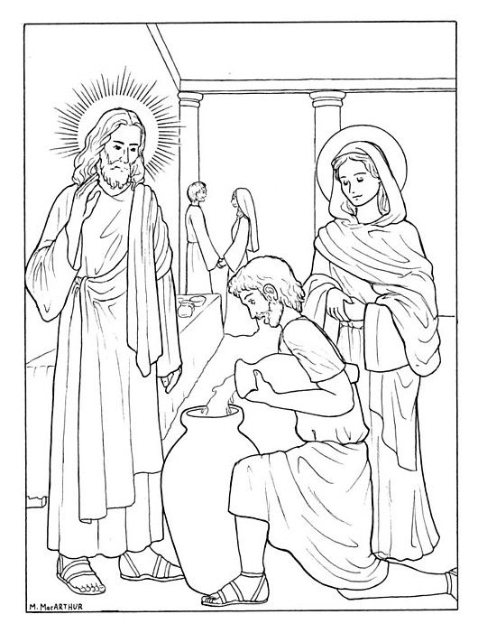 Luminous Mysteries Coloring Book Pages