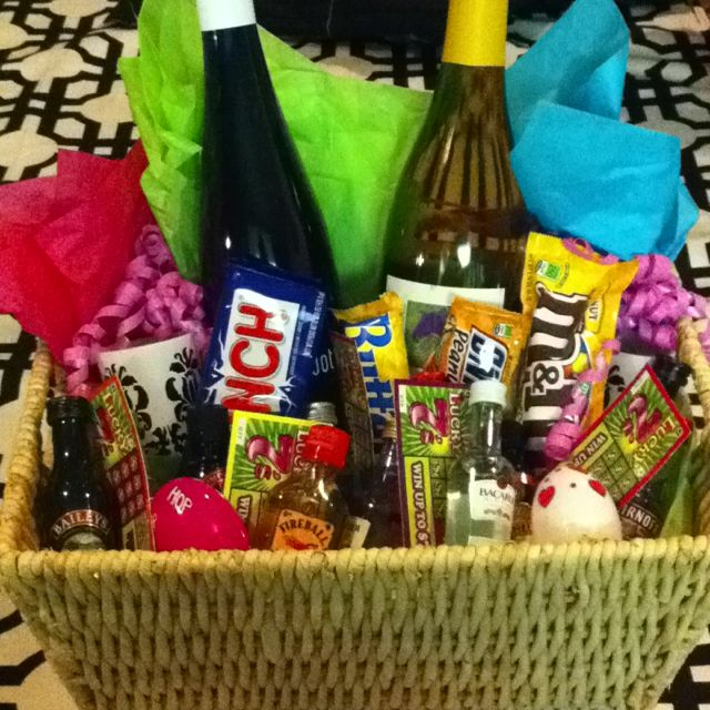 Adult Easter Basket Wine Small Liquids Lotto Scratch