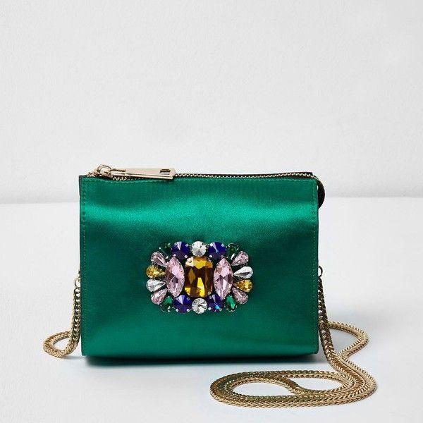 Green handbag, Shoulder bag