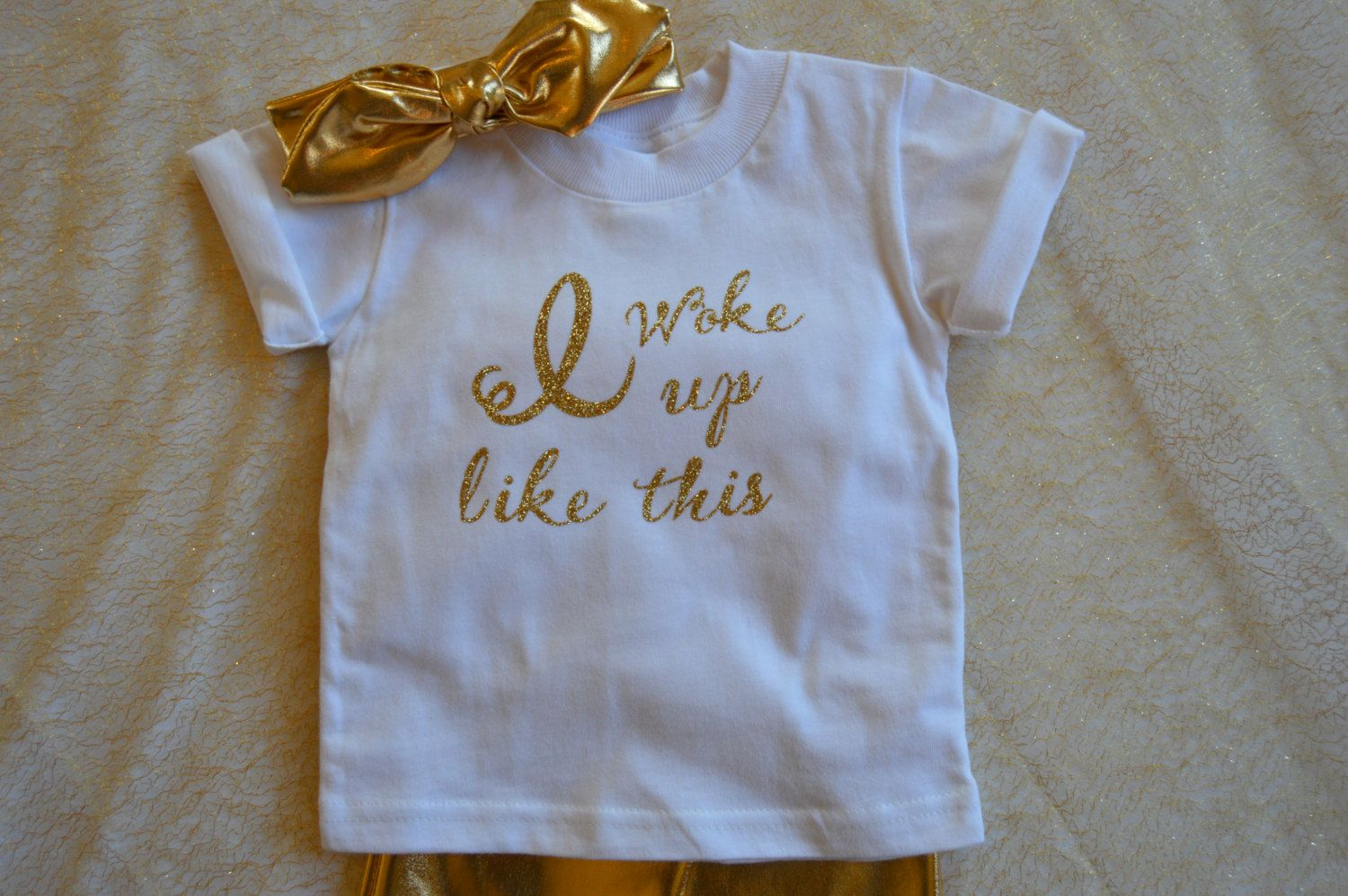8749258a0 Baby Clothes Cute Girl Clothes Glitter outfit Gift Toddler Girl Clothes Girl  TShirts Sparkle Gold 1st