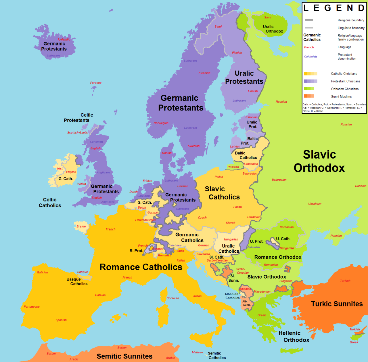 Religions and language families in europe moreby european history religions and language families publicscrutiny Images