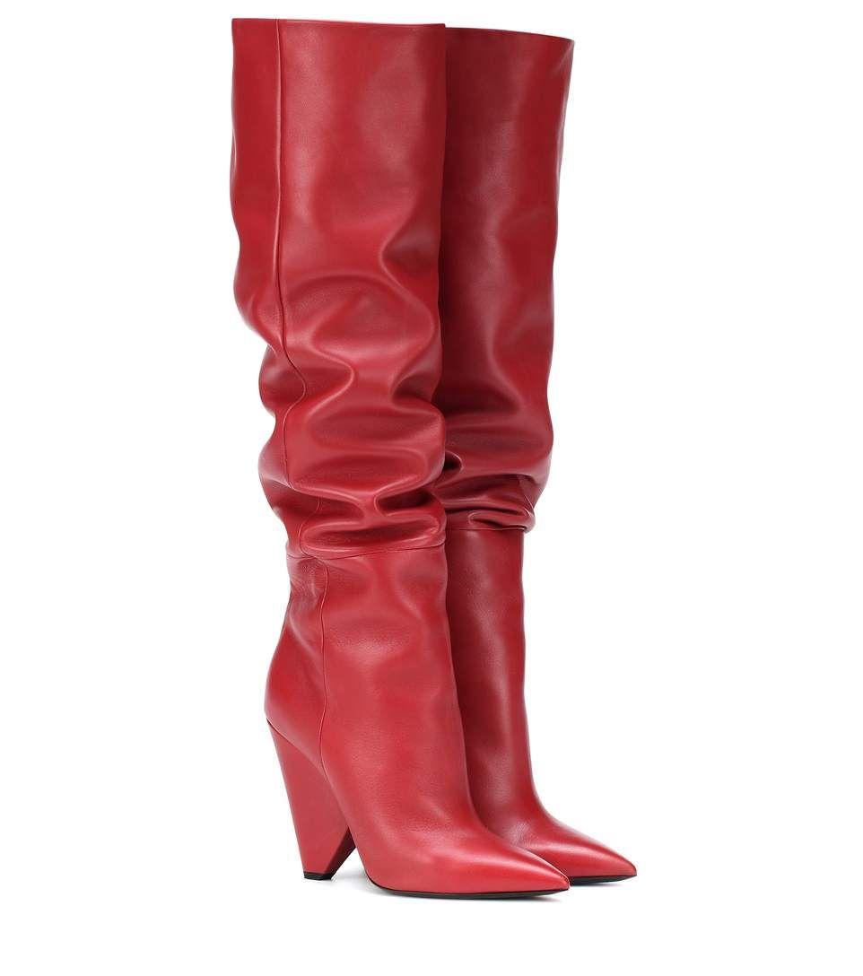 Niki 105 Leather Boots | Saint Laurent