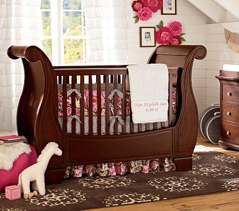 Viking Ship Style Baby Crib. Larkin Fixed Gate Sleigh Crib | Pottery Barn  Kids