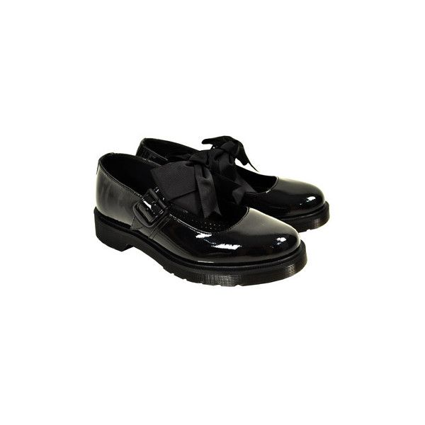Dr Martens Mariel Bow Mary Jane shoes, womens emo flats, Dr