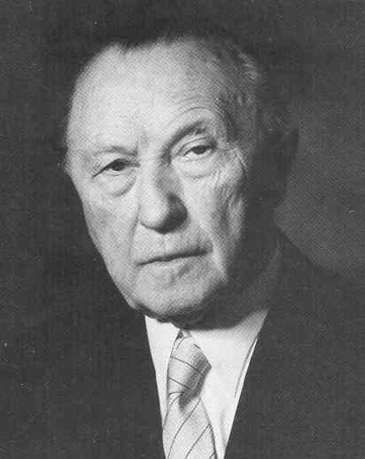 Konrad Adenauer German Chancellor 1949 1963 Histoire