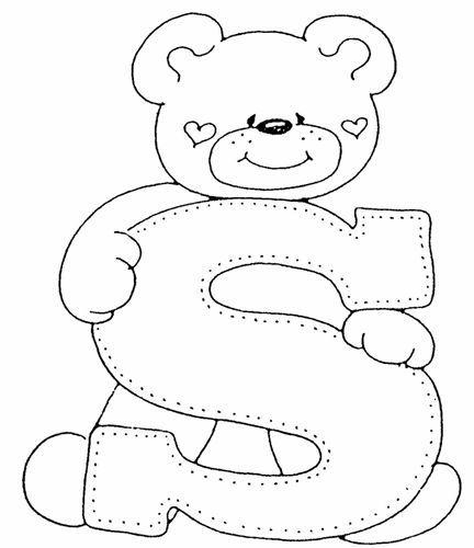 Feltro no capricho: Alfabeto de ursinho | letras | Pinterest ...