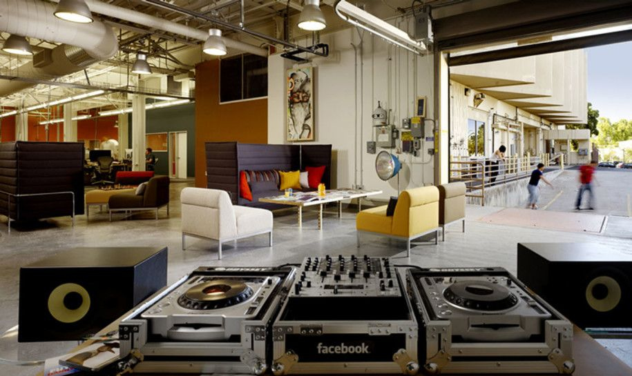 Creative Facebook Office Design Ideas : Office Space With Turntable And  Skate Park