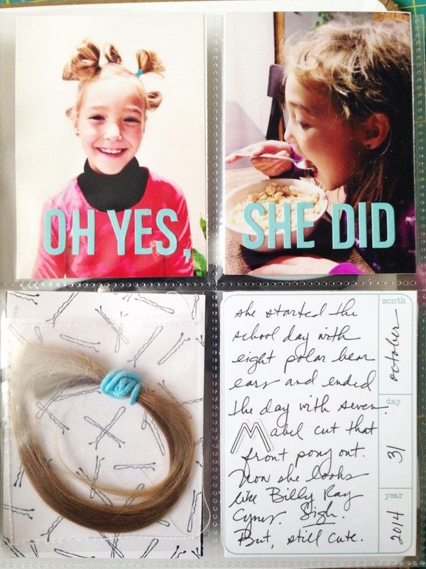 6x8 handbook project life - Oh Yes, She Did by rachelkrutsch at @studio_calico, sewing