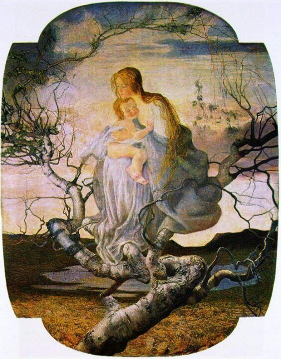 giovanni segantini. el Ángel de la vida.1895 | arte.religioso, Garten und Bauen