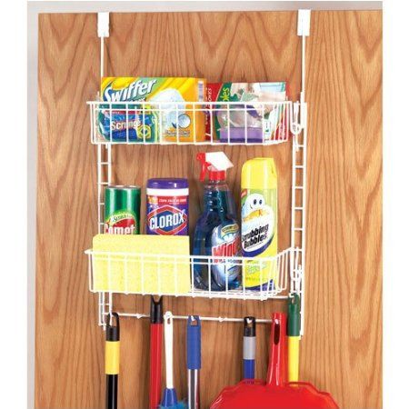 Beautiful Over The Door Cleaning Supply Organizer