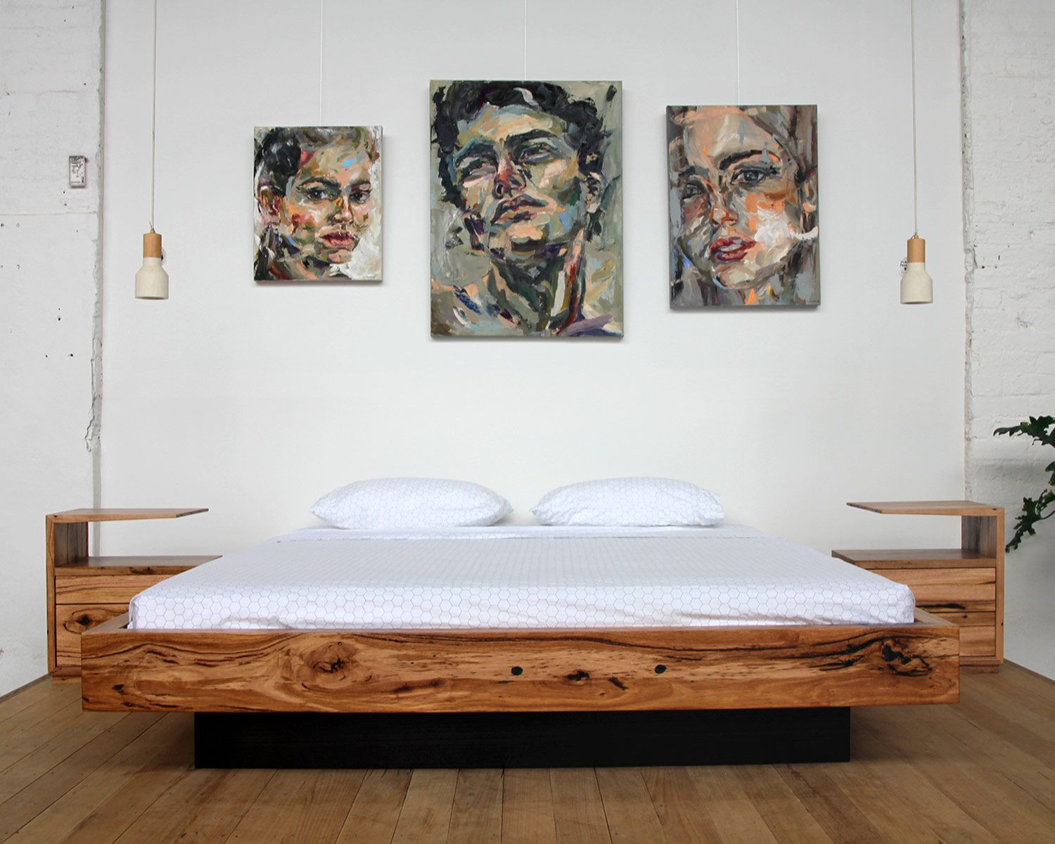 Floating Bed Magnetic Custom Floating Bed Recycled Timber Bed Yard Furniture