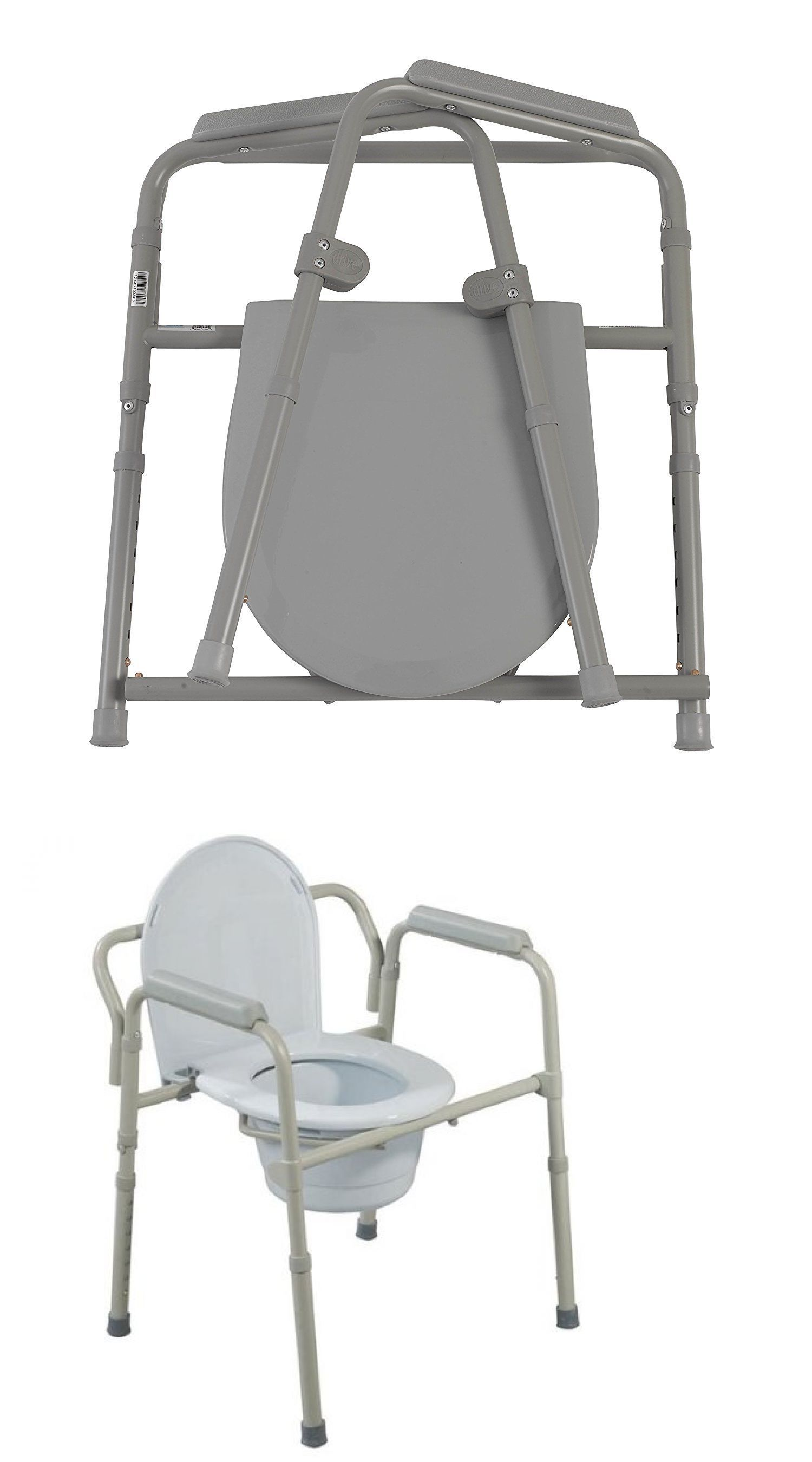 Toilet Frames and modes Steel Folding Adjustable Bedside
