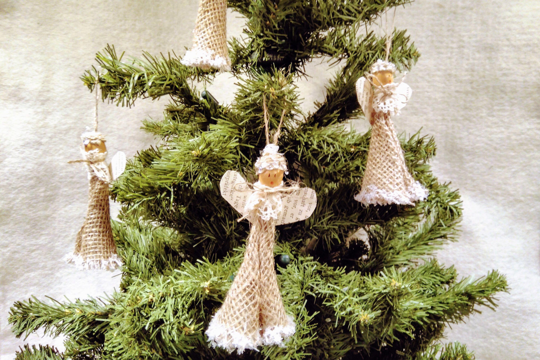 Christmas Angel Ornament Primitive Rustic Christmas