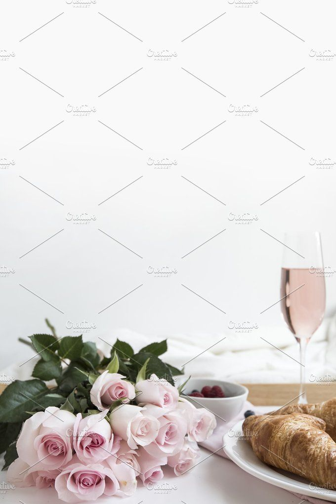 Pink Roses and Champagne by Her Creative Studio on @creativemarket
