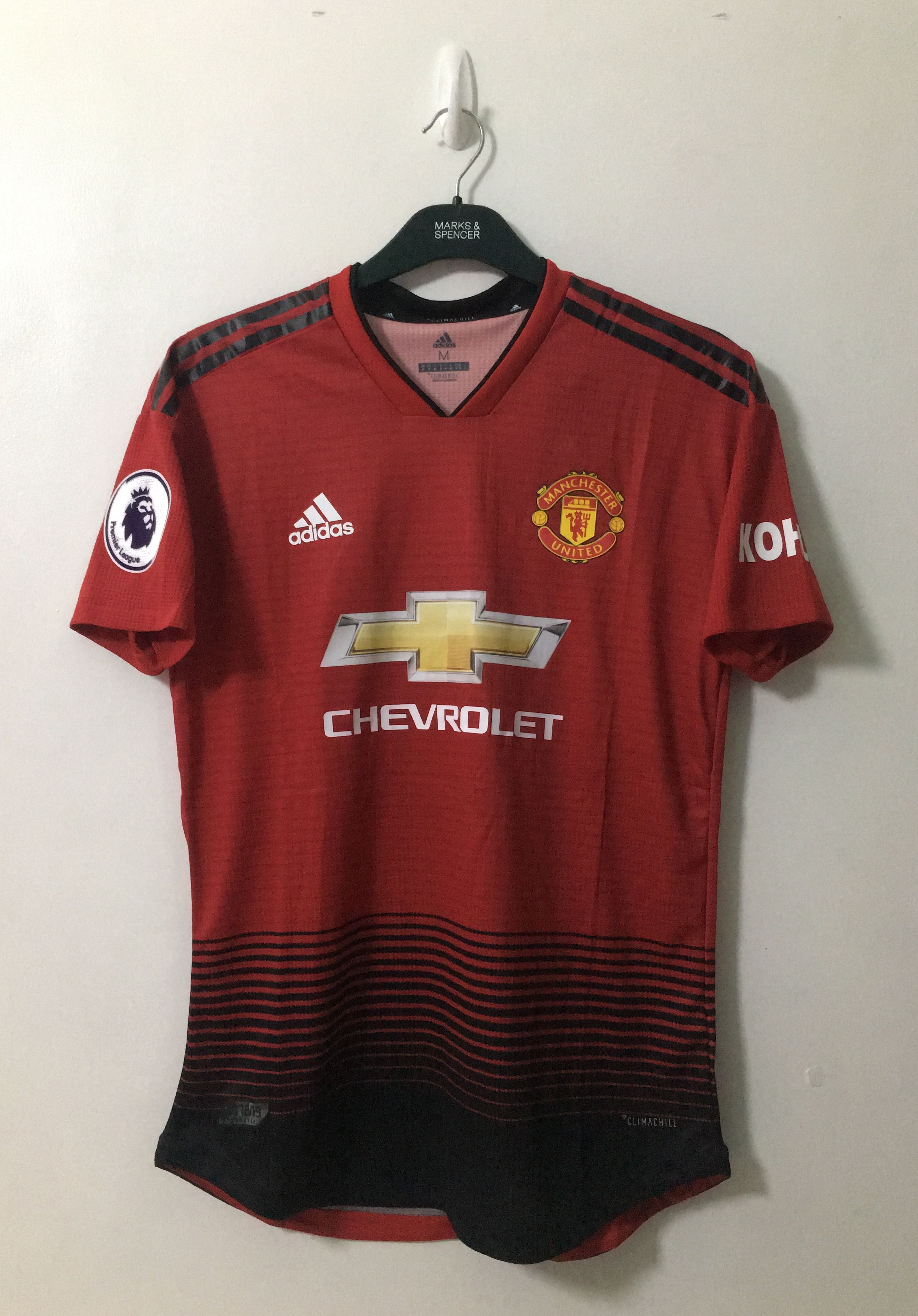 size 40 40daa a98e2 2018-2019 Adidas Manchester United Home #6 Paul Pogba EPL ...