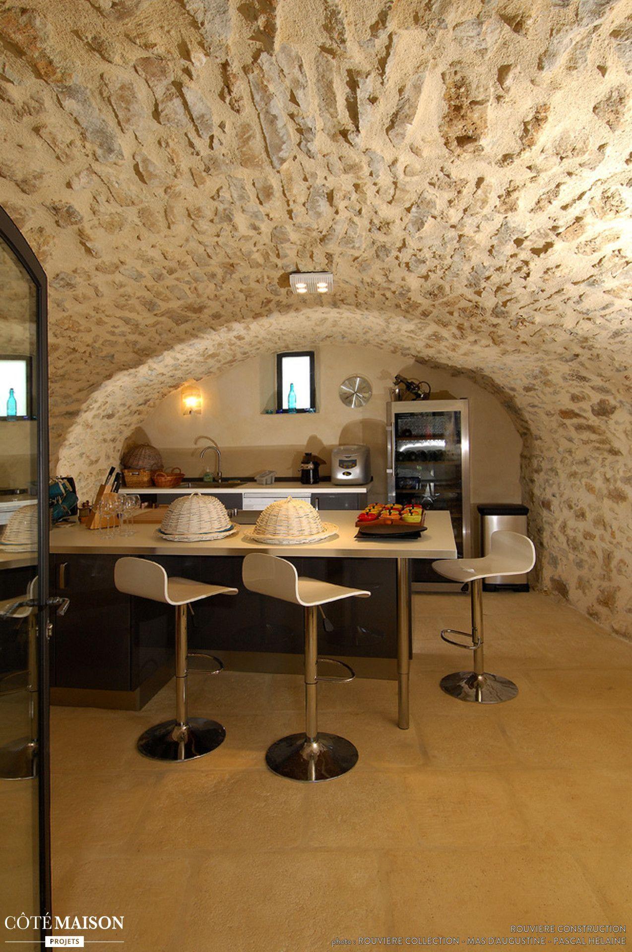 Une Cuisine Sous Une Voute Home Wine Cellars Basement Remodeling Rustic Modern Kitchen