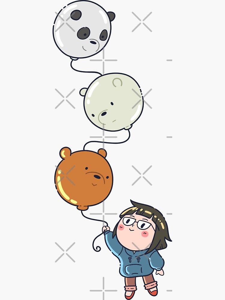 We Bare Bears balloon Sticker by jkyuu