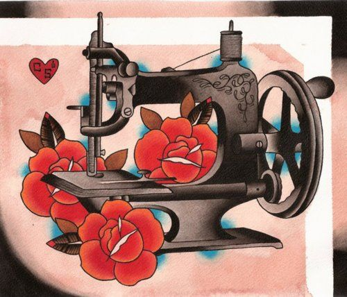 Must have a sewing machine tattoo