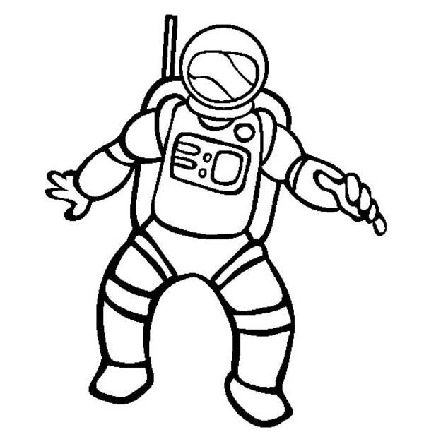 Astronaut Picture Of Community Helpers Coloring Page Enjoy