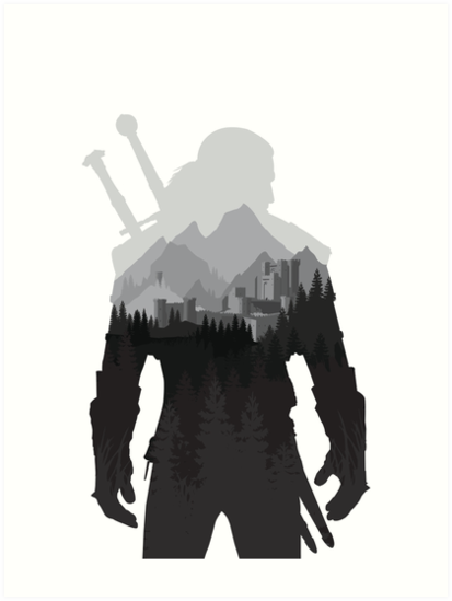 Ap 550x550 12x16 1 Transparent T U2 Png 413 549 The Witcher Wild Hunt The Witcher Game Witcher Art