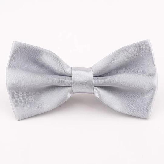 Brand Polyester Bowtie Men Noeud Papillon Women Bow Tie Solid Coloreos Eosegal Women Bow Tie Tie Grey Bow Tie