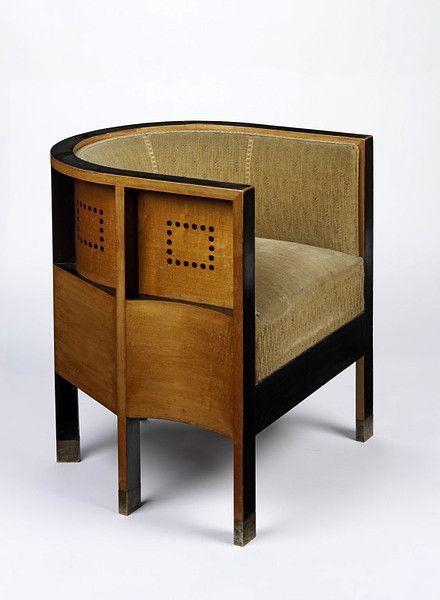 Koloman Moser Mobilier Armchair V Vienna Secession 1903 Meubles Art Deco Meubles Art Deco Et Meubles Art Nouveau