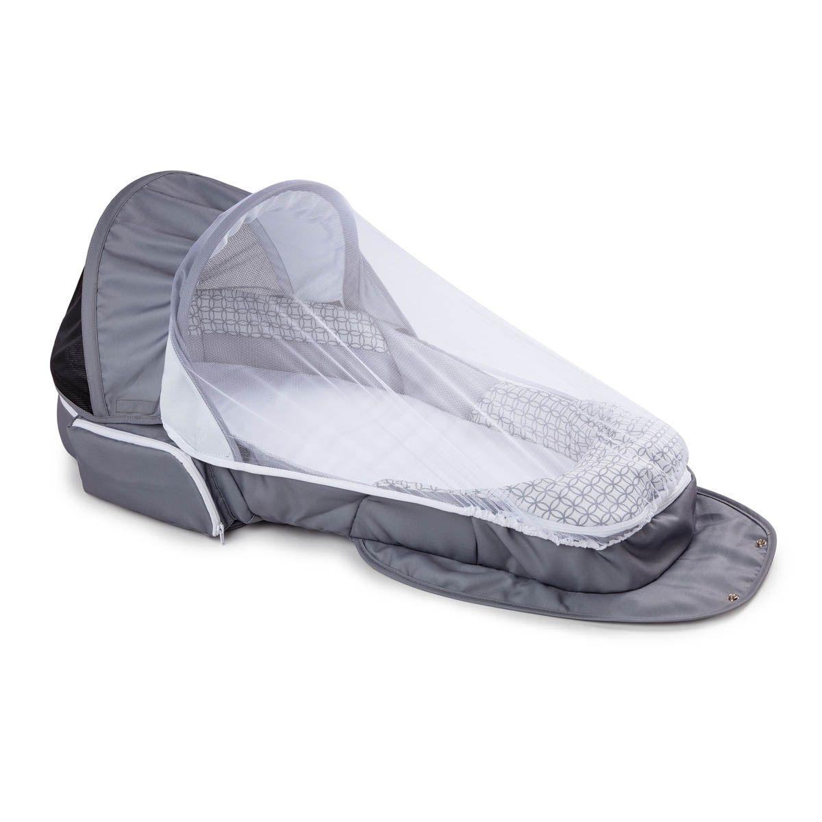 Baby Delight Snuggle Nest Traveler Portable Infant Sleeper in Grey Diamond