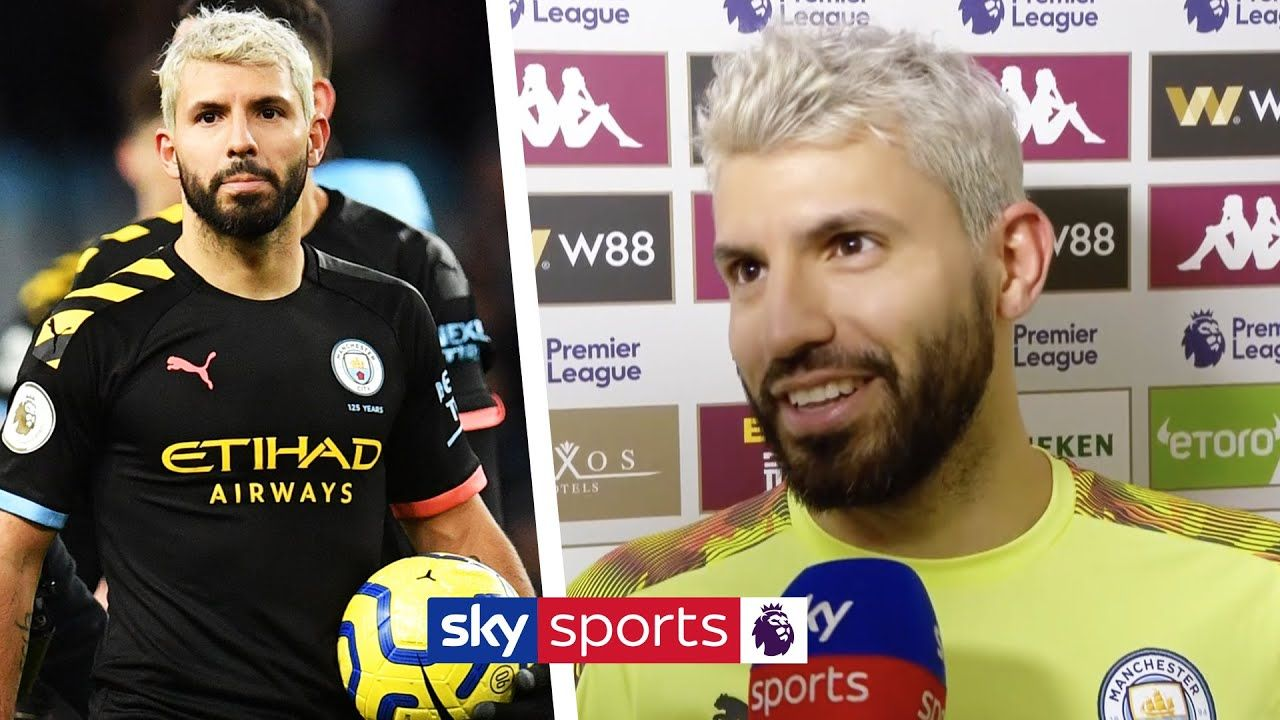 Sergio Aguero reacts to the Premier League's all