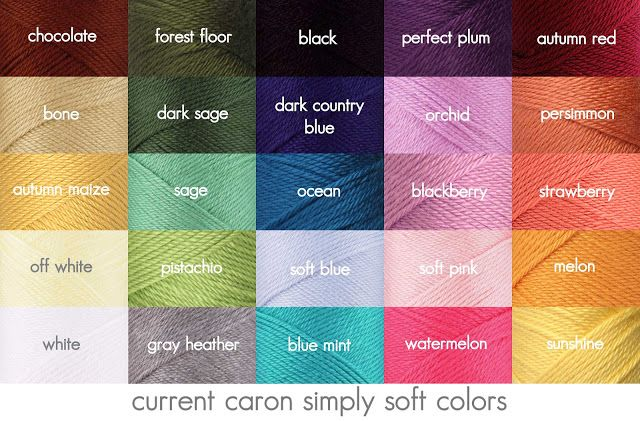 Caron Yarn Color Chart Google Search C Is For Craft Obsession