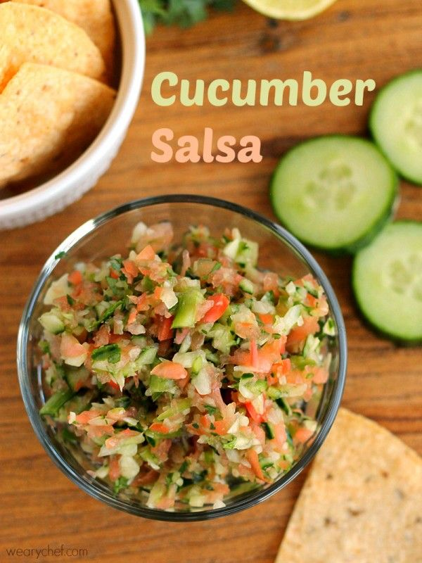 Cucumber salsa just right with chips or fish tacos for Suggestions for sides for fish tacos