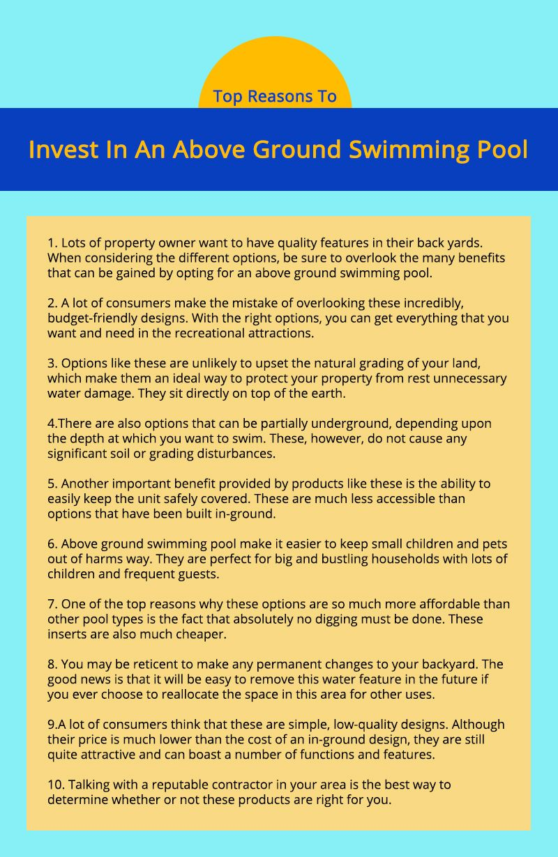 How Long Does It Take to Build An Above Ground Pool | In ...