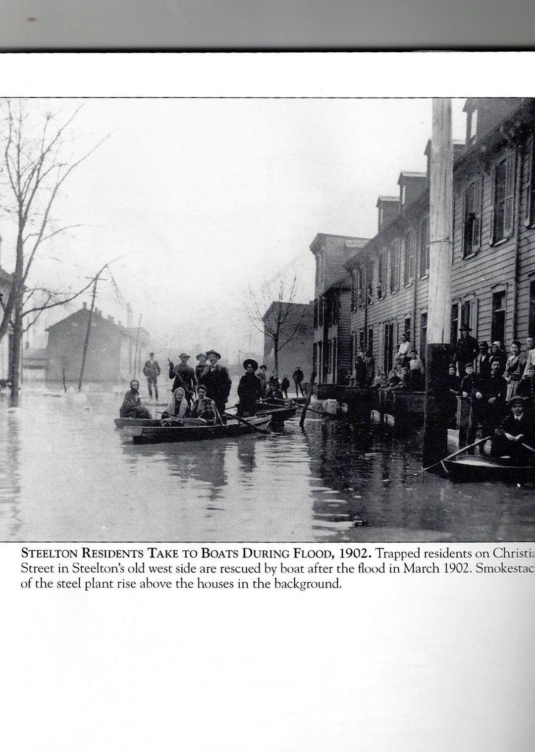 Christian St , Steelton PA Flood 1902 Abraham and Dora Fein