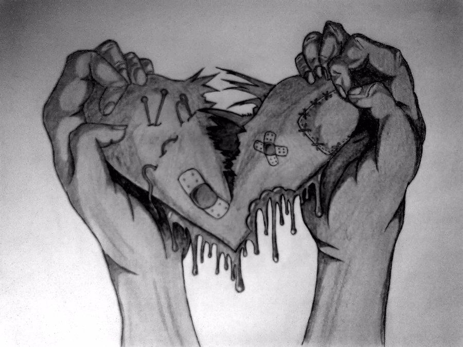 That S What I Call A Broken Heart Tattered N Torn Riped N