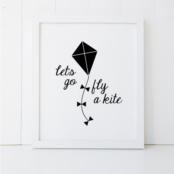 Let s Go Fly a Kite Mary Poppins Quote Disney Home Decor Printable Wall Art  INSTANT DOWNLOAD DIY - G 5acc0802a
