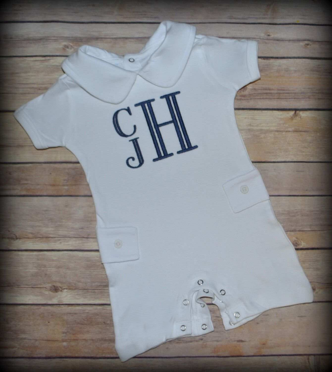 Monogrammed baby outfit Kids Pinterest