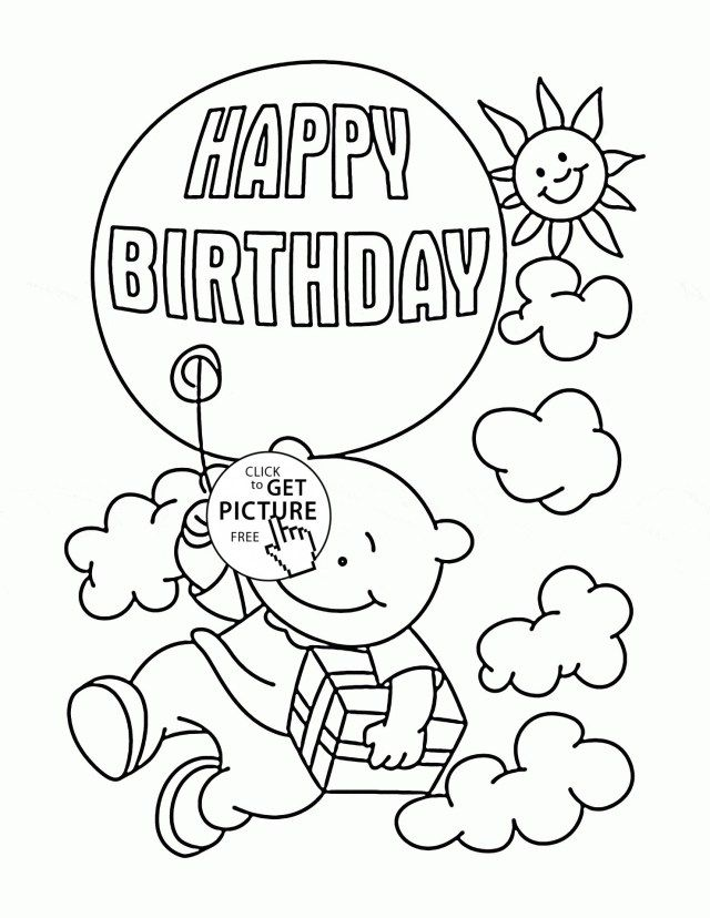 Brilliant Image of Printable Birthday Coloring Pages ...