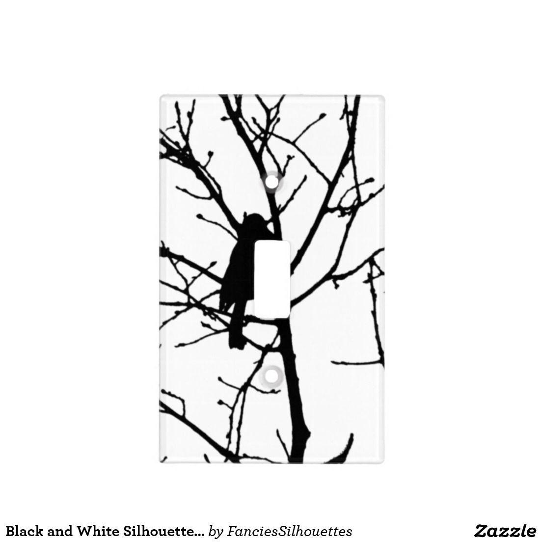 Chickadee Silhouette Love Bird Watching Light Switch Cover